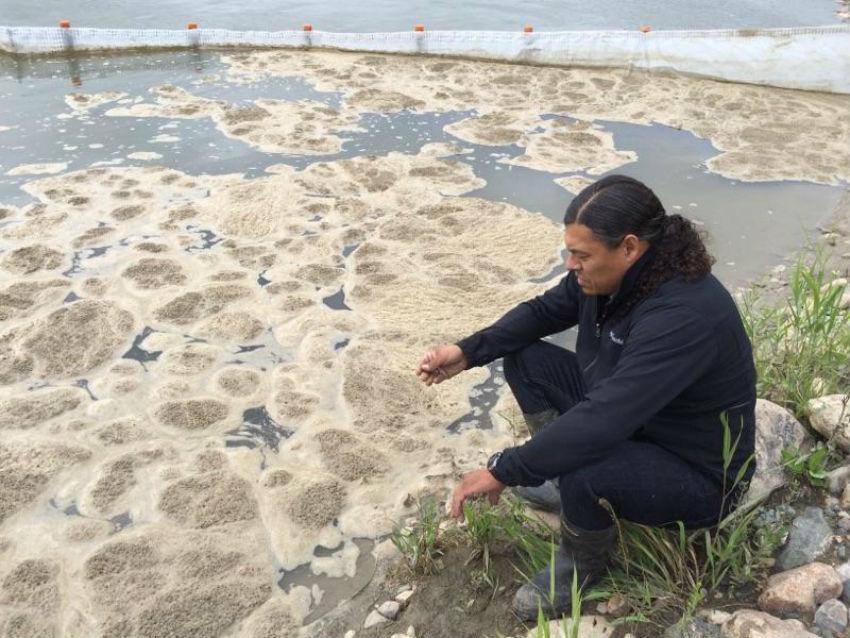 Sheldon Wuttunee, James Smith Cree Nation, Husky oil spill, North Saskatchewan River