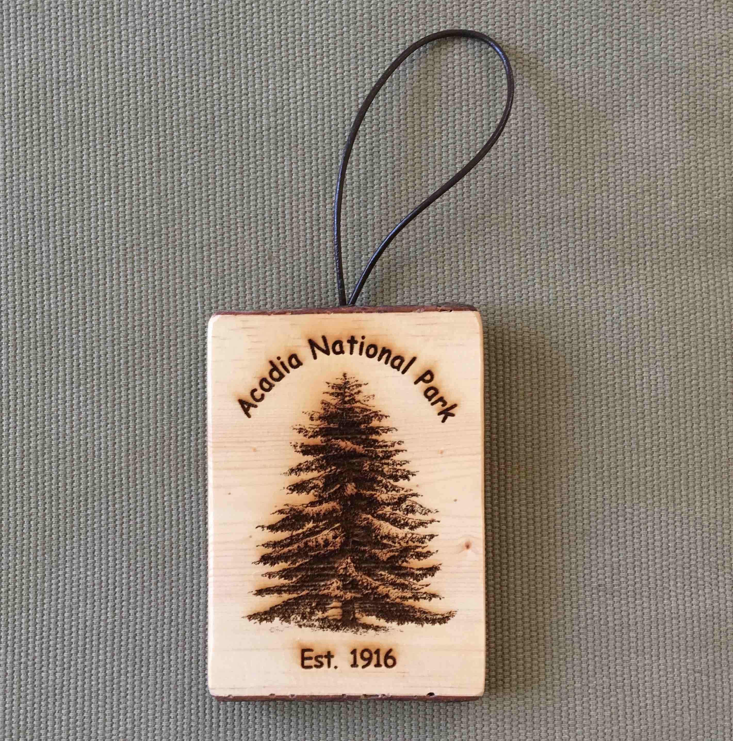 Acadia National Park – Bark Ornaments