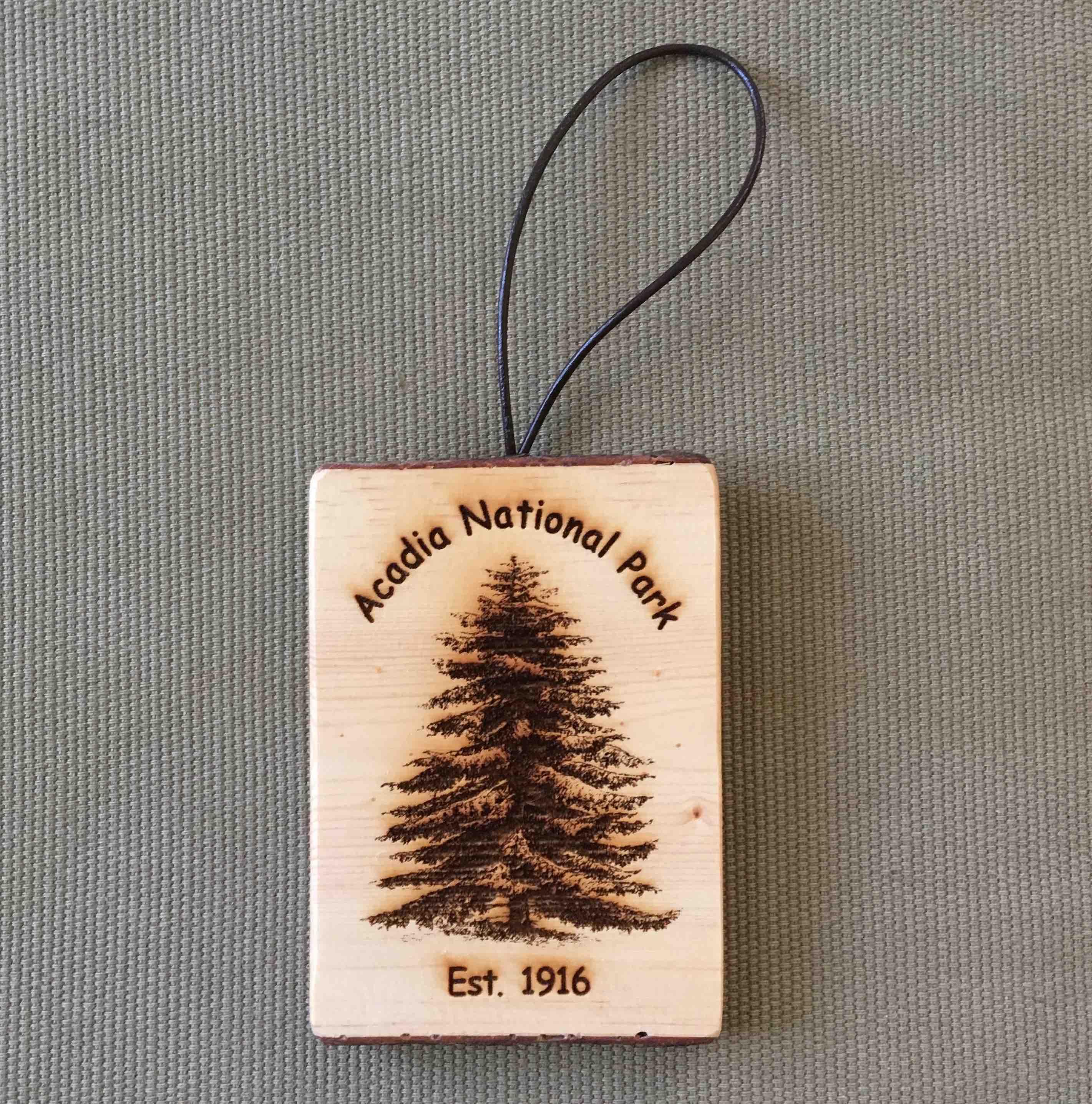 Acadia National Park Bark Ornament
