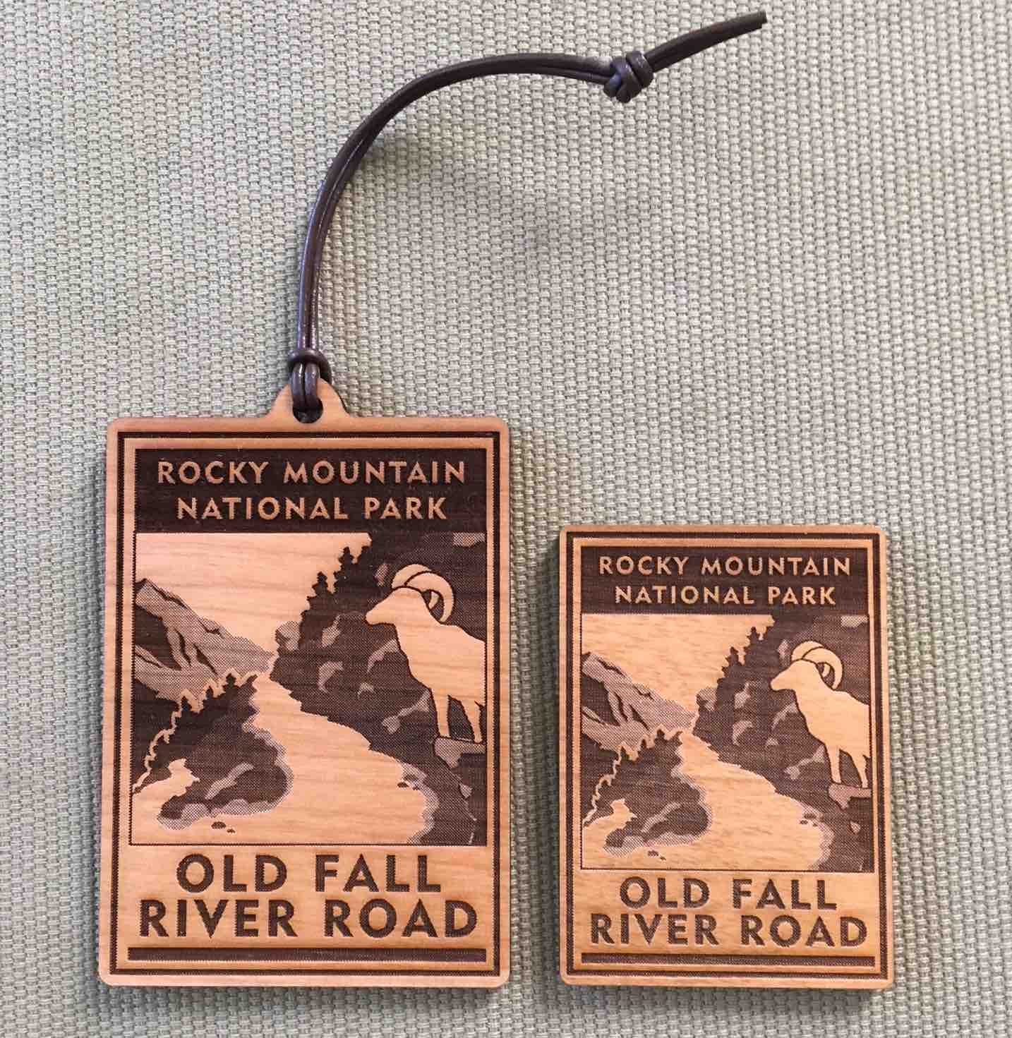 Old Fall River Road Scenic Icon - Ornament & Magnet