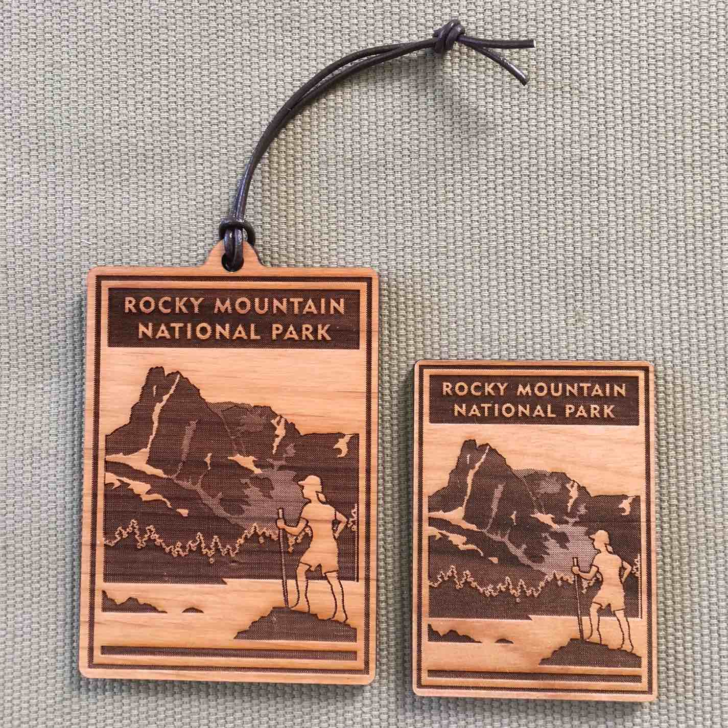 Rocky Mountain National Park - Scenic Icon Ornament & Magnet