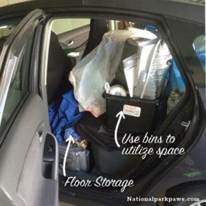 prius camping storage