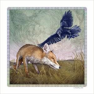 The Fox and Crow Print
