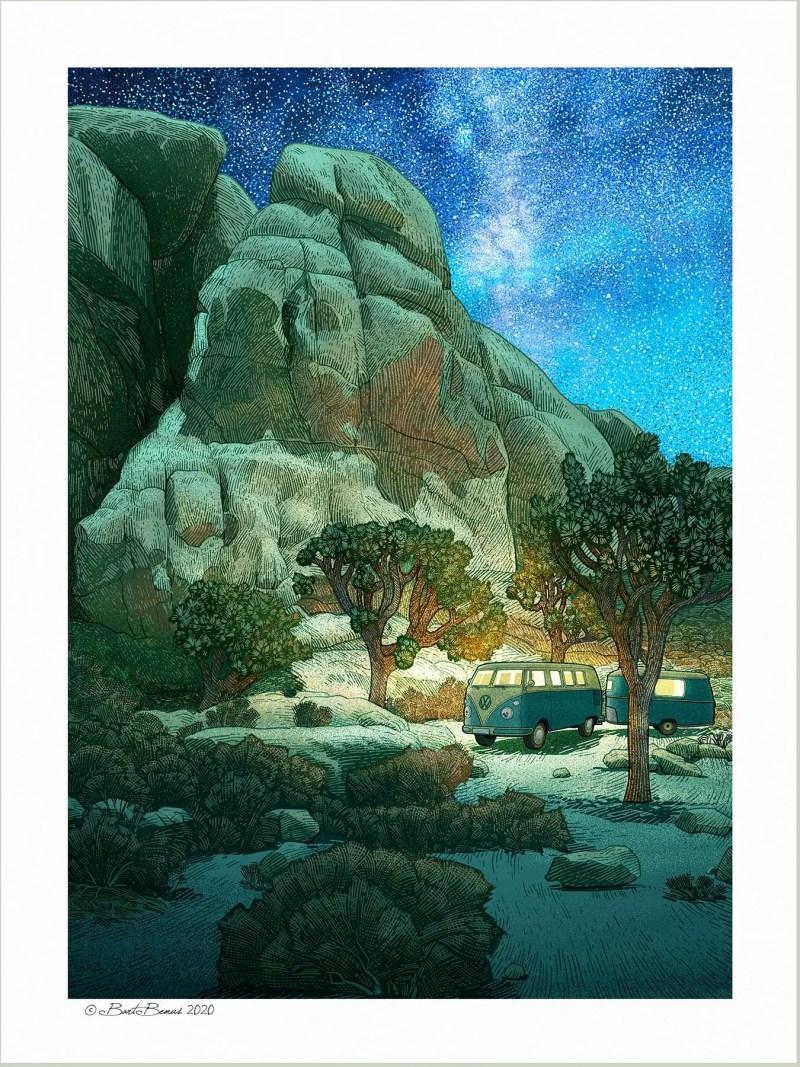 Stellar Campsite Print