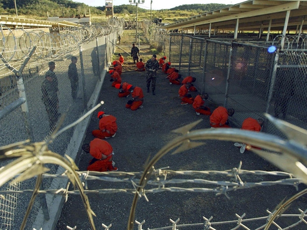 Guantanamo detainees in 2002.