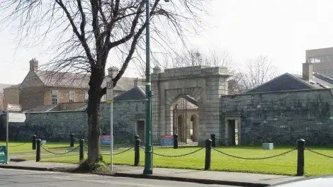Photograph 3. Entrance to Beggars Bush Barracks - view from Haddington Road
