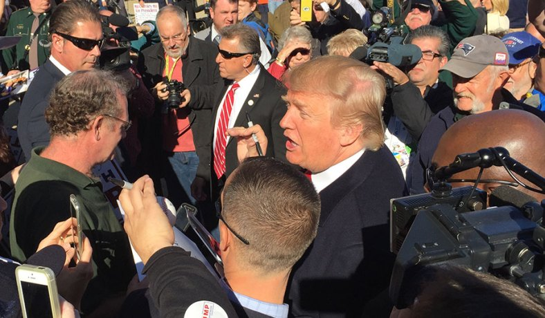 Donald Trump's New Hampshire Visit: Drowns out Bush and