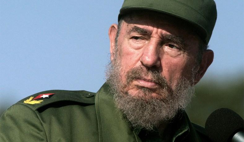 Fidel Castro during a press conference