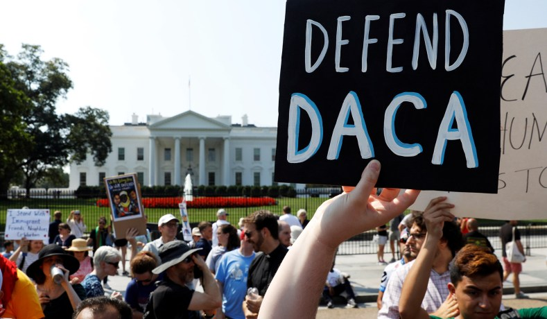 Daca Supporters Outside The White House September  Kevin Lamarque Reuters
