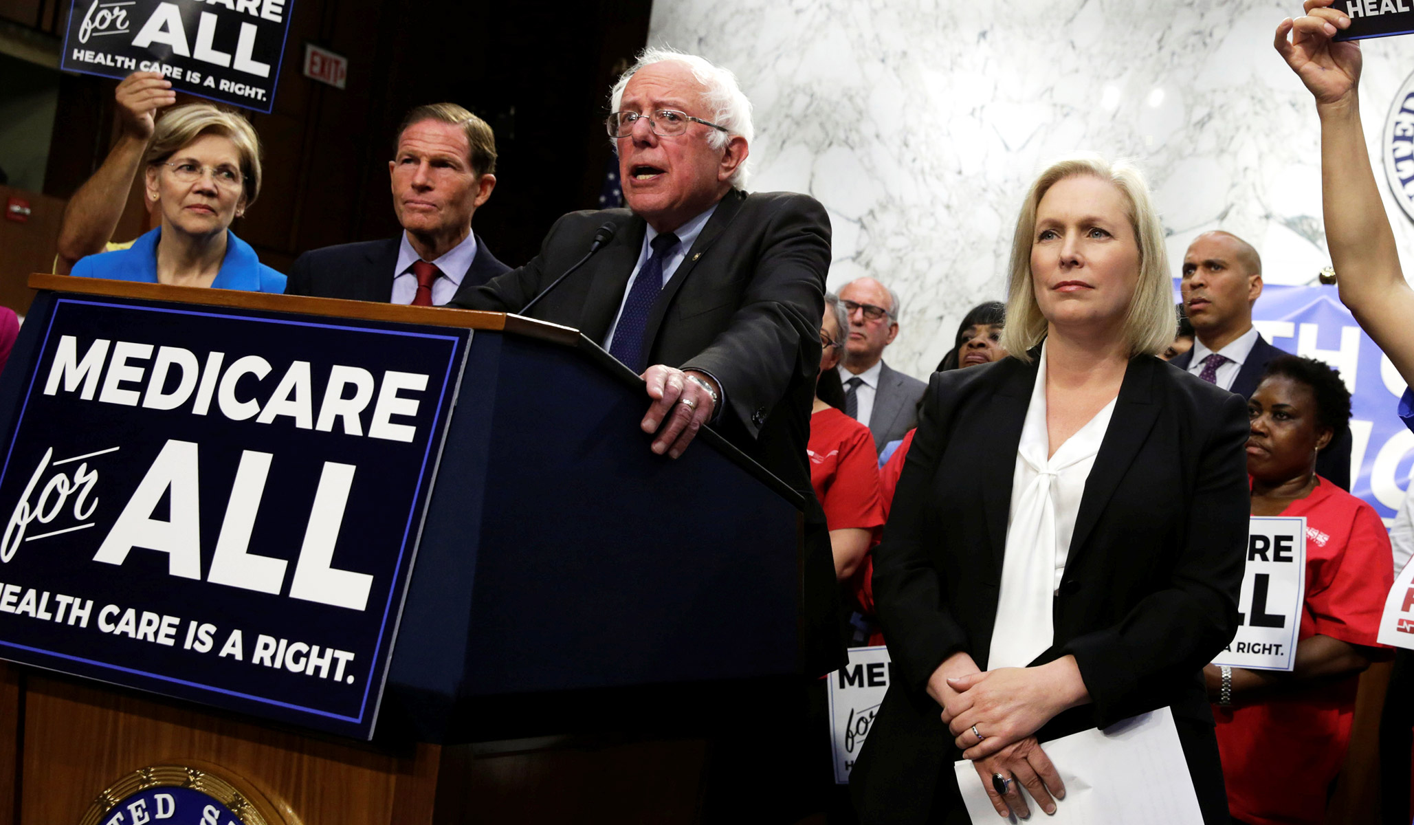 Image result for Bernie Sanders Introduces 'Medicare for All' Bill. Here's What It Says
