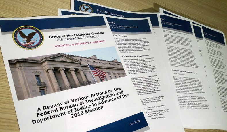IG Report on FBI: No Bias Conclusion May Not Be Supported | National