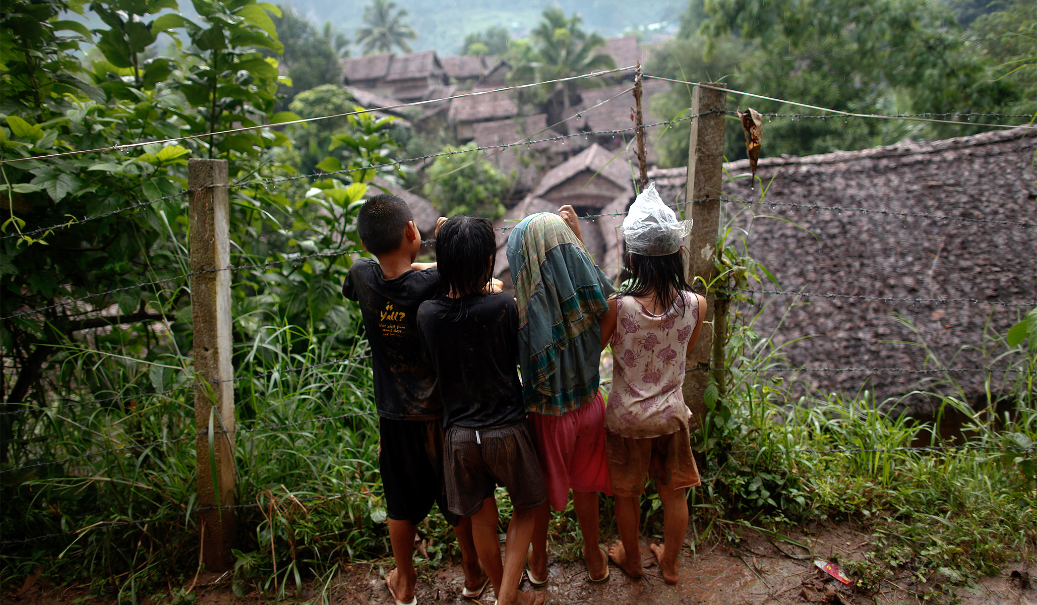 A prosperous village in Burma