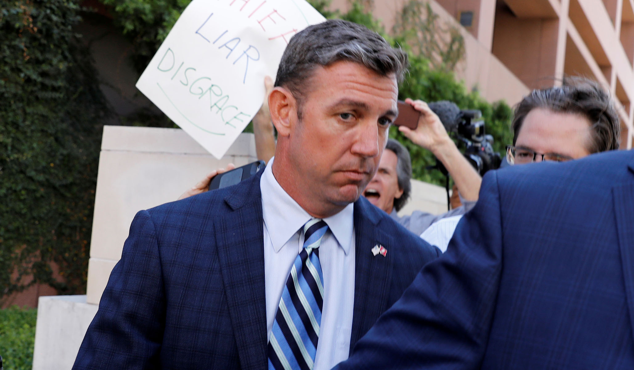 Rep. Duncan Hunter Shows no Signs of Resigning Despite Pleading Guilty to Campaign Finance Charges