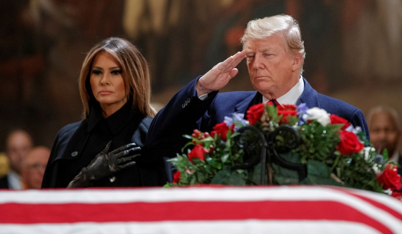 President, First Lady Pay Respects to Bush in Capitol