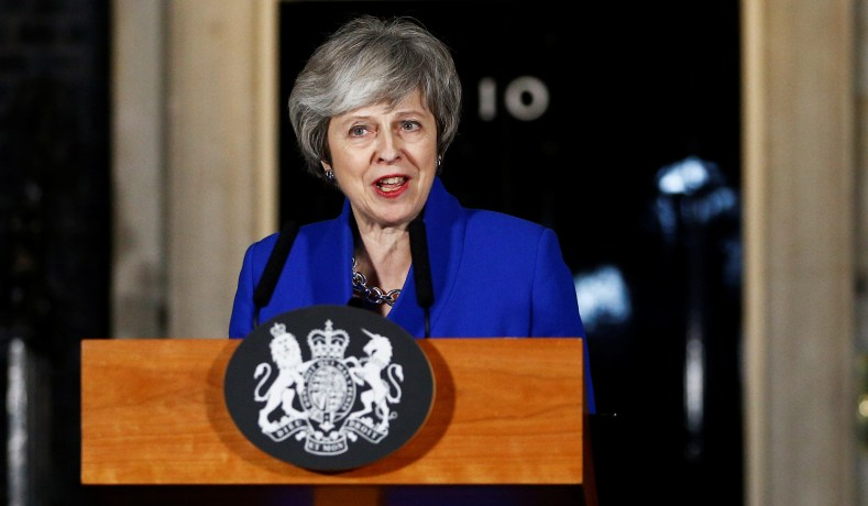 prime minister theresa may makes a statement outside 10 downing street following winning a confidence vote january 16 2019 henry nichollsreuters