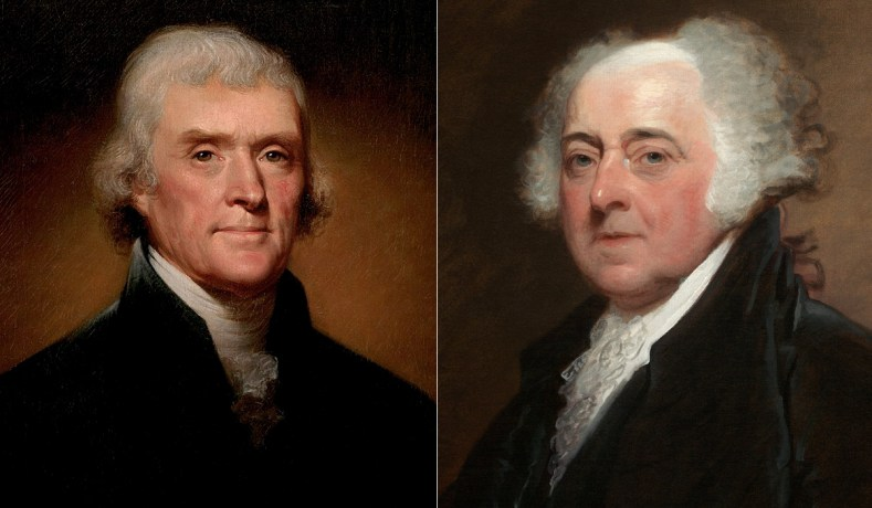 Thomas Jefferson And John Adams Founders Friendship And Liberal