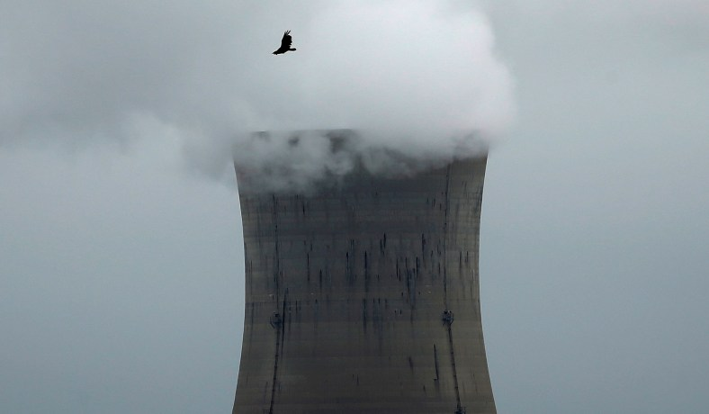 A bird flies over the Three Mile Island Nuclear power plant in Goldsboro, Pa., May 30, 2017. (Carlo Allegri/Reuters) Until they embrace nuclear energy as a key to reducing emissions, the party's many presidential candidates will be hard to take seriously on climate change.