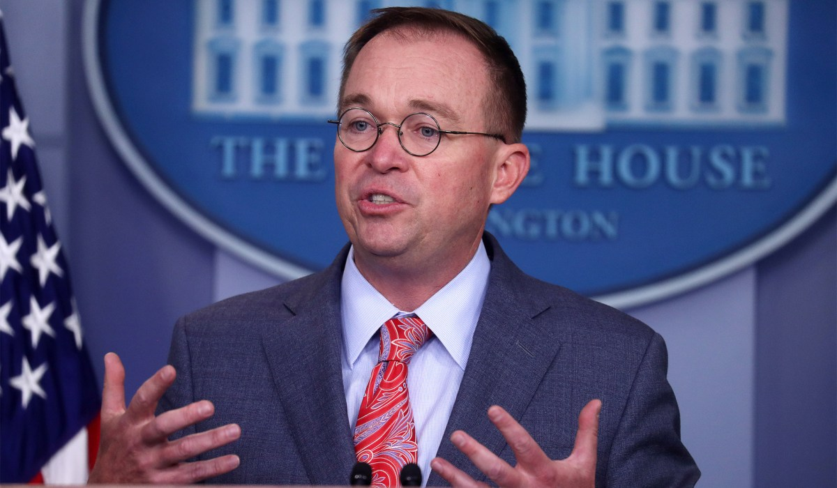 Mulvaney Says Trump Administration Desperate for More Legal...