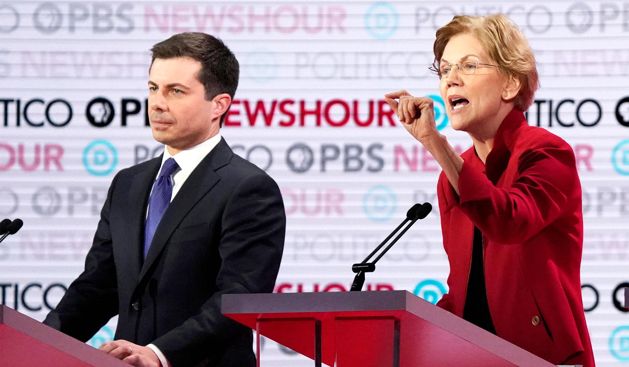 Biden Cruises and Buttigieg Takes Fire in the Wine Cave Debate