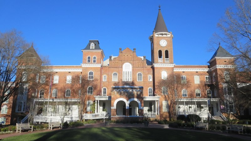 The main building at Converse College, Spartanburg, S.C. (Wikimedia Commons)