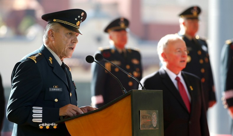 Former Mexican Defense Minister Arrested in U.S. on Drug-Related Charges