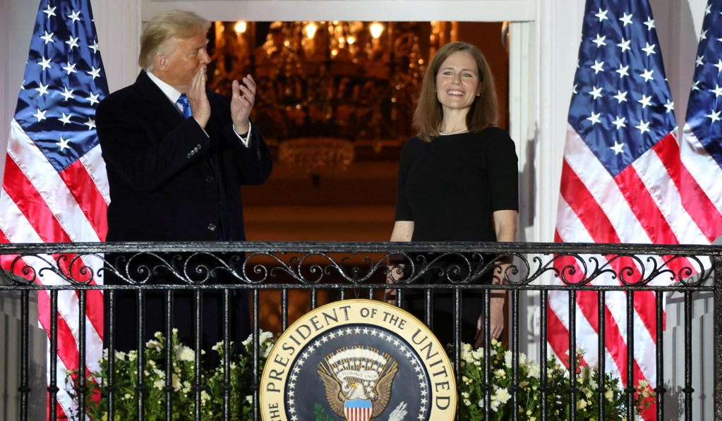 Chief Justice John Roberts Administers Judicial Oath to Amy Coney Barrett