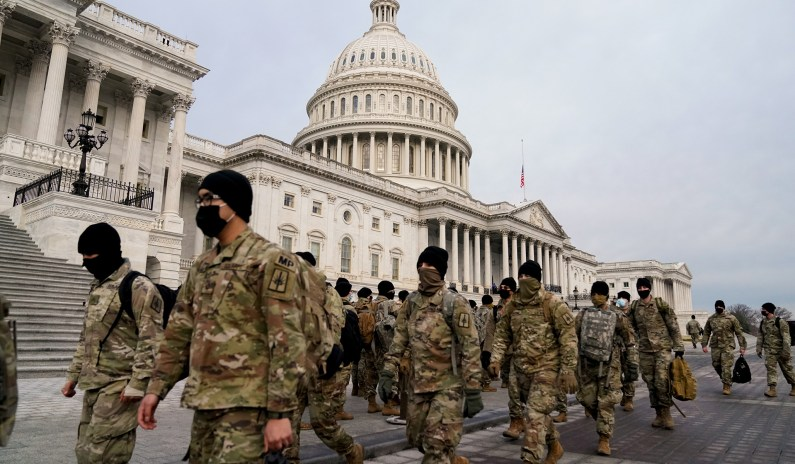 National Guard Will Boost Troops in D.C. to at Least 10,000 for Inauguration