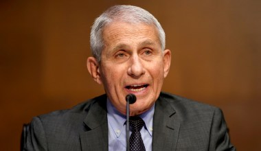 Fauci: 'If You're Outside and You're Vaccinated, Put Aside Your Mask'