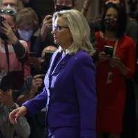 House Republicans Boot Liz Cheney from Leadership, Then Give Her a Standing Ovation
