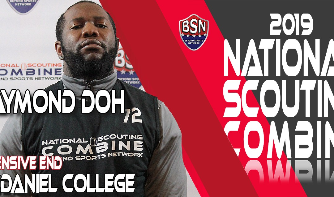 2019 National Scouting Combine prospect, Raymond Doh, DL from McDaniel College