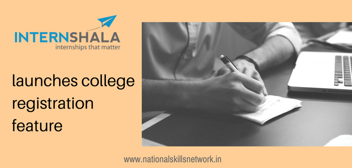 Internshala college registration