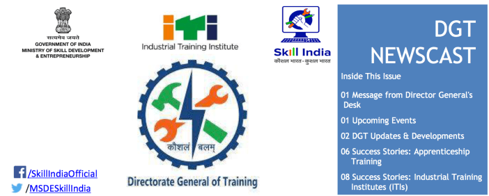 Newsletter from Directorate General of Training (DGT) - MSDE