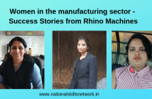 Women in manufacturing Rhino machines