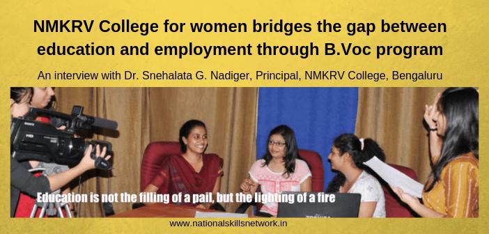 NMKRV College for women B.Voc Program