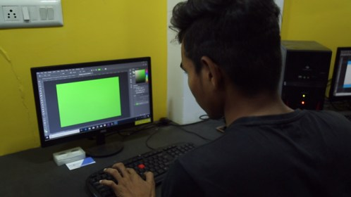 Computer training at Ayansh Foundation
