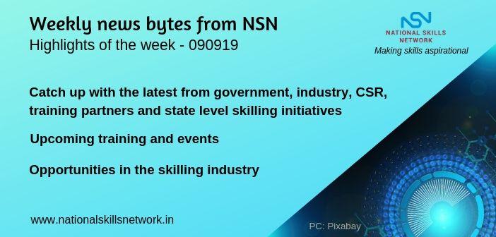 News Bytes on Skill Development and Vocational Training – 090919
