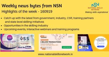 News Bytes on Skill Development and Vocational Training 160919