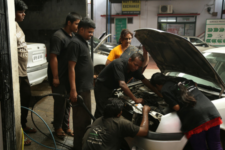 Automotive skills training at PABS