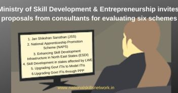 Ministry of Skill Development & Entrepreneurship invites proposals from consultants for evaluating six schemes