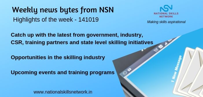 News Bytes on Skill Development and Vocational Training – 141019