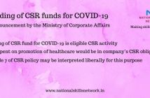 Funds spent to tackle COVID-19 to be counted under CSR activity