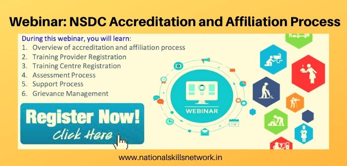 NSDC to organize webinar on Accreditation and Affiliation Process