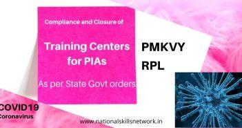 Notification for PMKVY Training Partners - Coronavirus