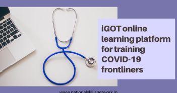 iGOT online learning platform for training COVID-19 frontliners
