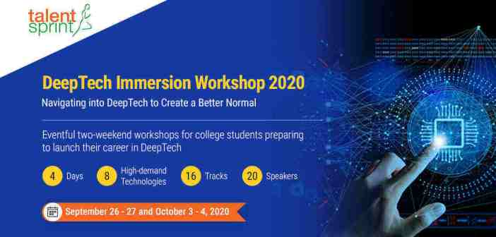 DeepTech Immersion Workshop 2020: An event by TalentSprint for college students preparing for a career in DeepTech