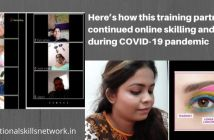 training partner has continued online skilling and ToT during COVID-19