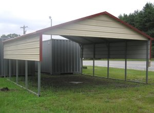 National Steel Carports A FrameBoxed Eave Style Carport