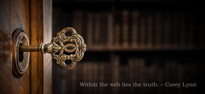 Within the web lies the truth. Corey Lynn