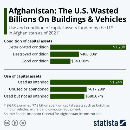 Infographic: Afghanistan: The U.S. Wasted Billions On Buildings & Vehicles   Statista