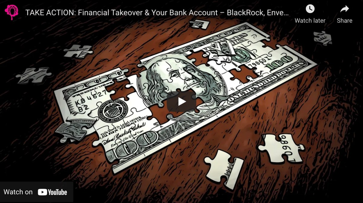 VIDEO: Financial Takeover and Your Bank Account – BlackRock, Envestnet/Yodlee, and The Federal Reserve